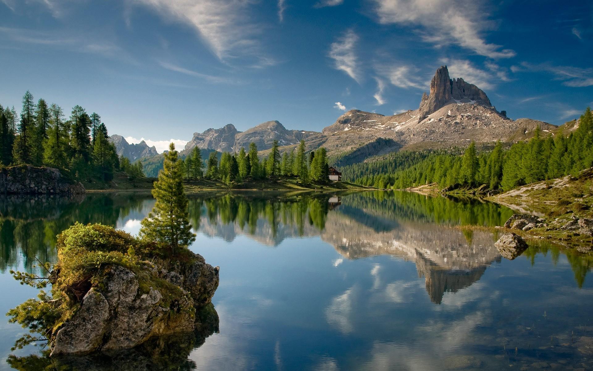 Free Download Fond Ecran Paysage Lac De Montagne Wallpaper