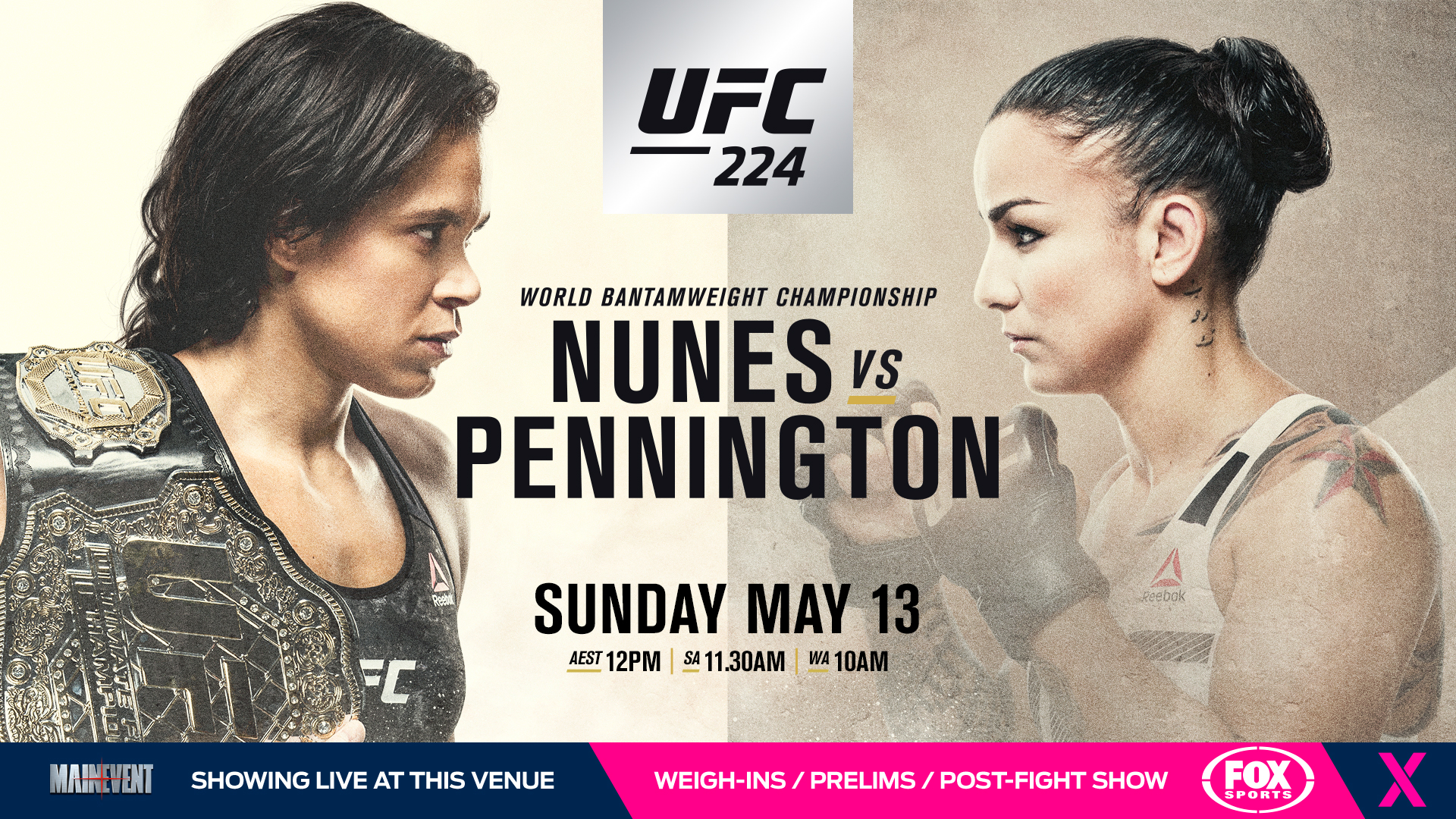 UFC 224 Nunes v Pennington Womans Bantamweight 1920x1080
