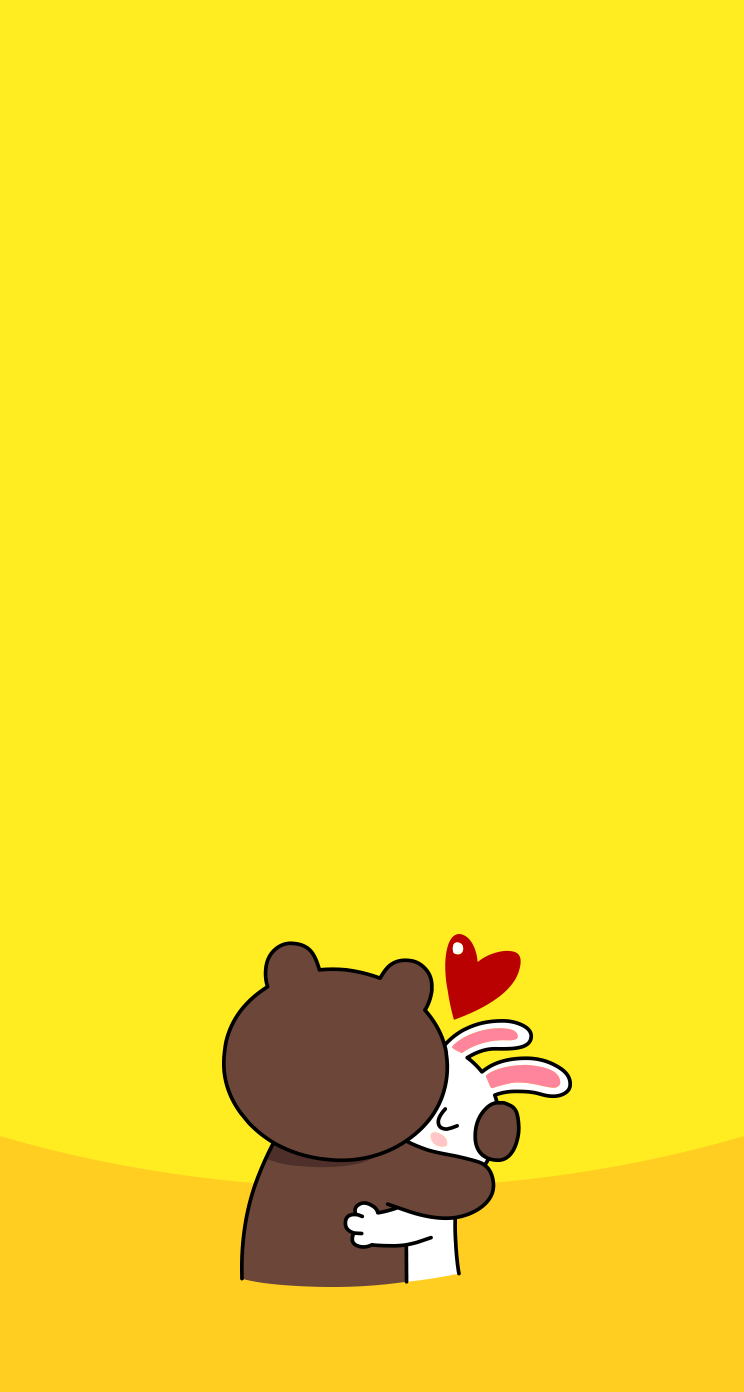Download LINE Brown Cony Hug 744 x 1392 Parallax 744x1392