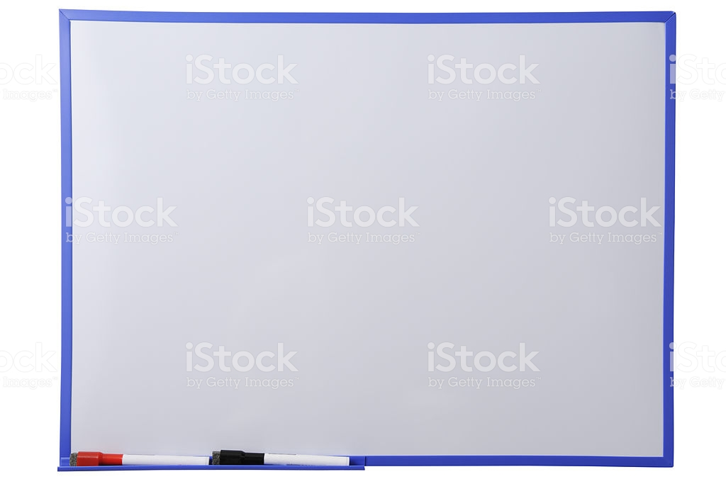 Blank Whiteboard And Felt Tip Pen Against White Background Stock 1024x683