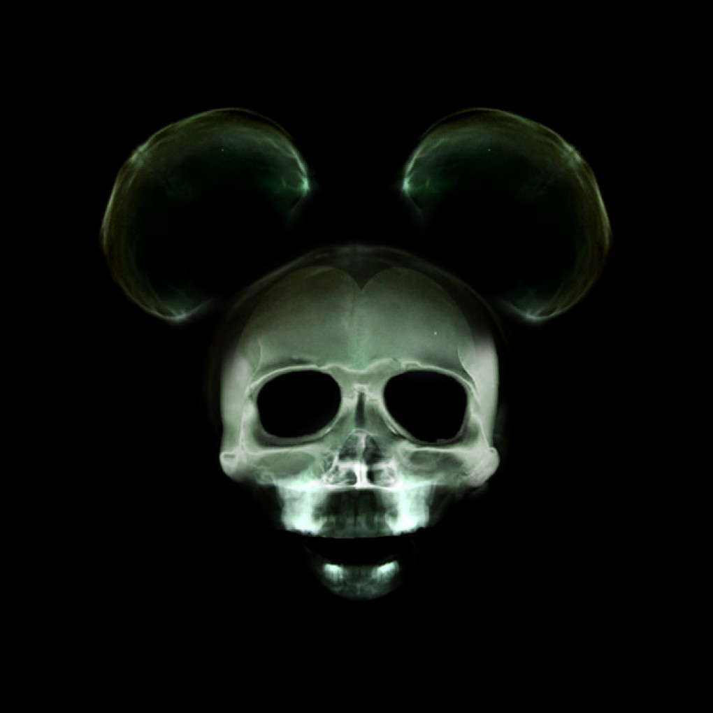 Digital Art x ray Cartoon Mouse Wallpaper 1020x1020