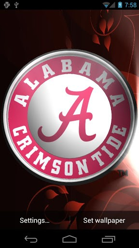 Alabama Crimson Tide LWP Tone App for Android 288x512