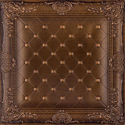 wallpaper DCT LRT03 Faux Leather Ceiling Tile   Vintage Gold wallpaper 500x500