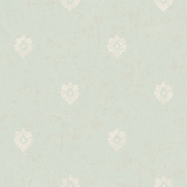Blue Velvet Floral Spot Wallpaper   Wall Sticker Outlet 600x600