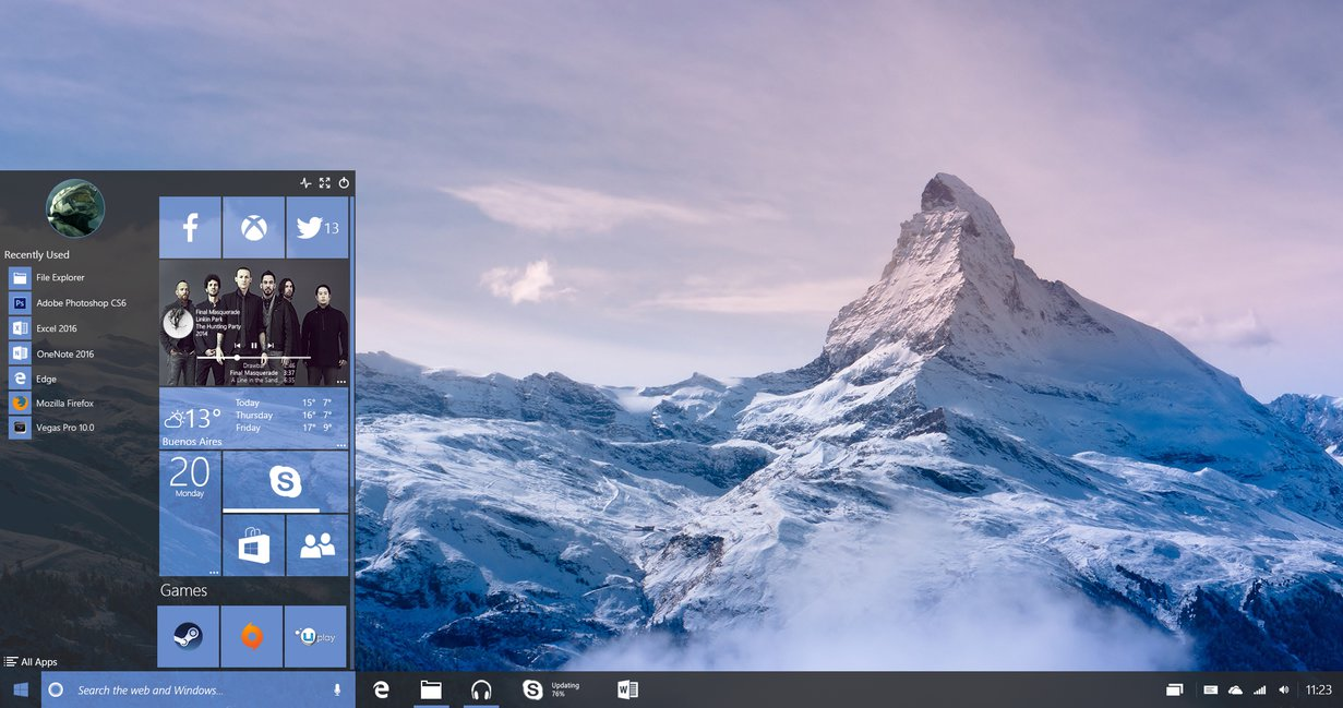Windows 10 Redstone Interactive Music Tile by lukeled 1231x649