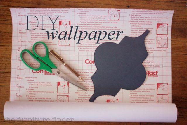 DIY removable wallpaper tutorial thefurniturefinderwordpressco 640x427
