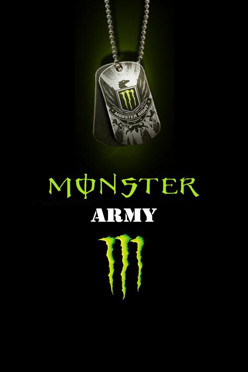 Monster Energy Logo Wallpaper by drouell 500x750