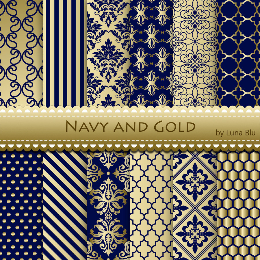 Item added to my shopNavy and Gold Digital Paper Navy and Gold 900x900