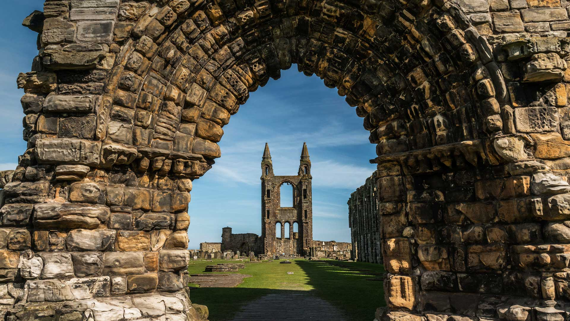 St Andrews Cathedral Bing Wallpaper Download 1920x1080