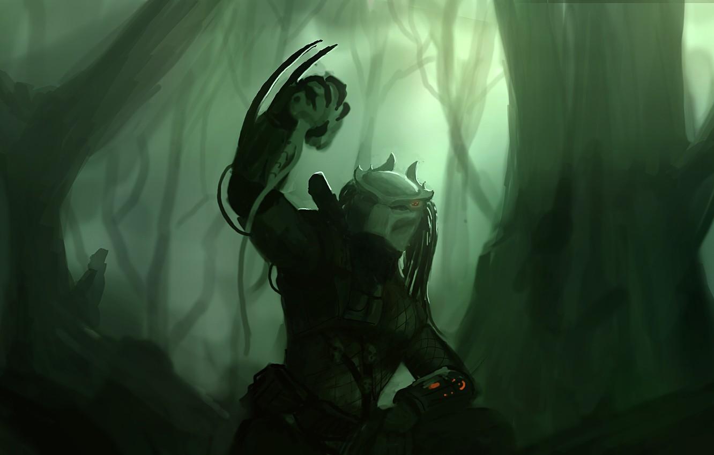 Wallpaper predator jungle alien Predator thing images for 1332x850