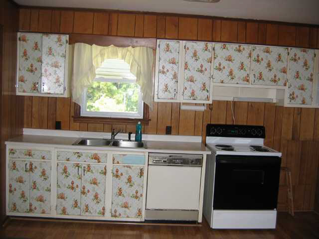 wallpaper on kitchen cabinet doors Greenville South Carolina home 640x480