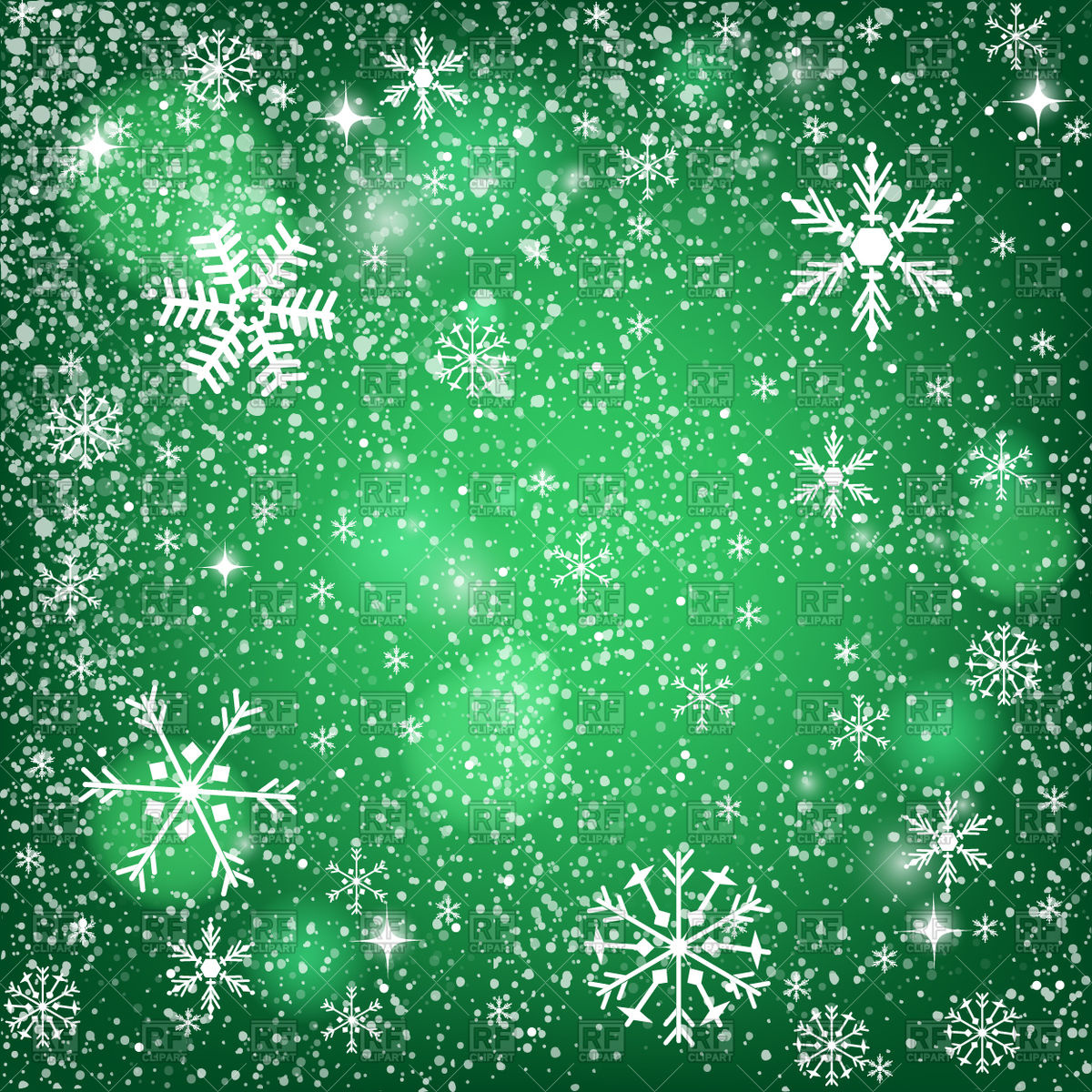 Abstract green Christmas background  snowy pattern with snowflakes 1200x1200