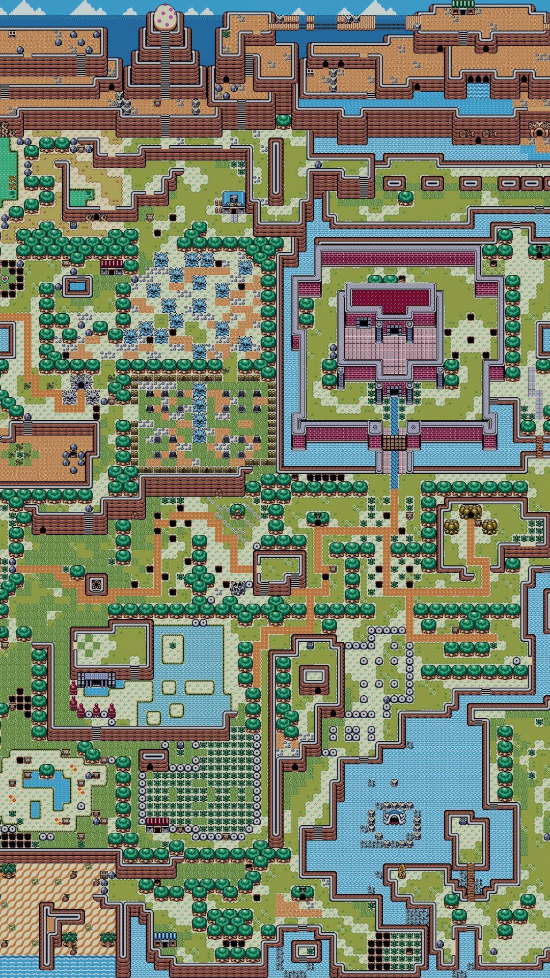 The legend of zelda maps retro 8 bit wallpaper 17505 1080x1920