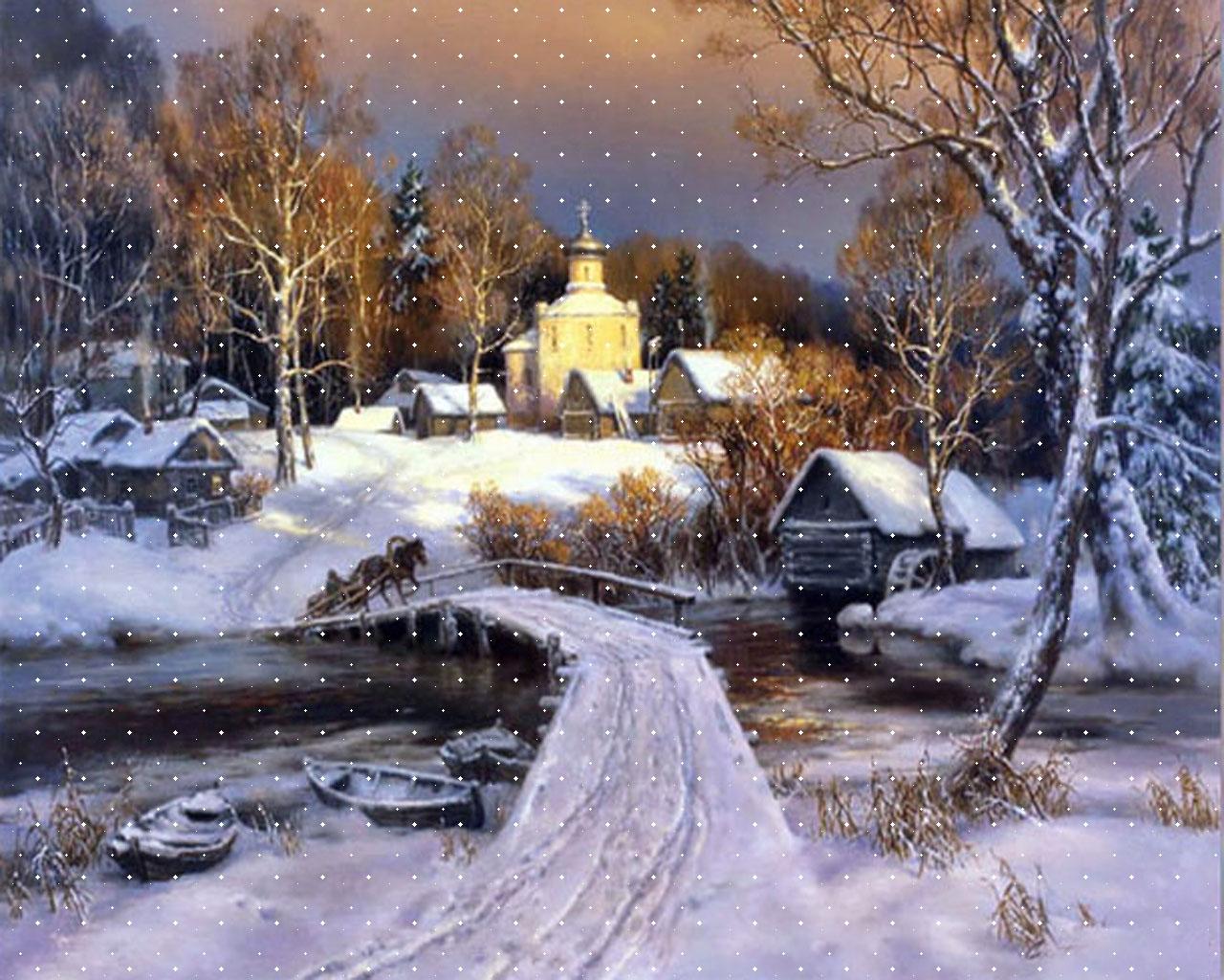 Desktop Wallpaper Nature Winter HD wallpaper background 1280x1024