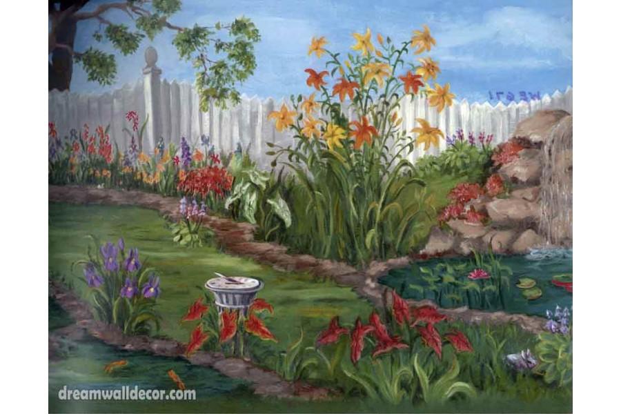 Garden Yellow Flower Wallpaper Border 900x600