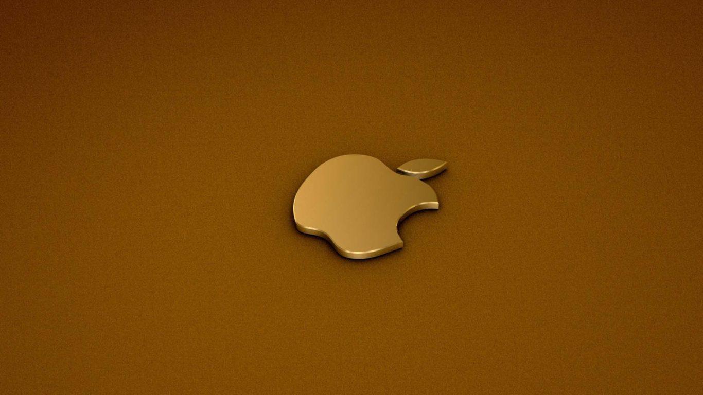 3D Gold Rush Apple 4k full hd backgrounds wallpaper   HD 1366x768