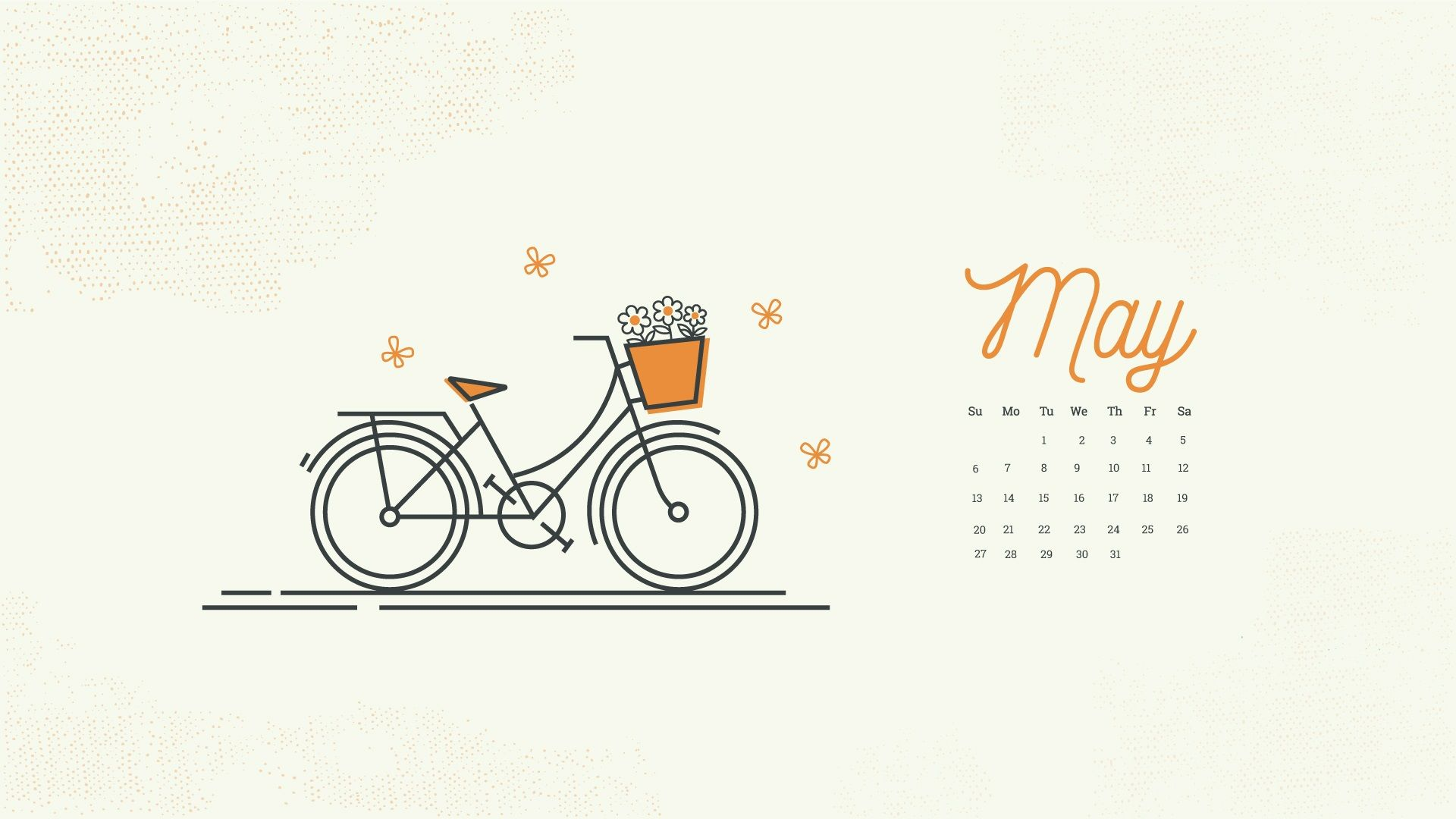 May 2018 Desktop Calendar Wallpaper Latest Calendar in 2019 1920x1080