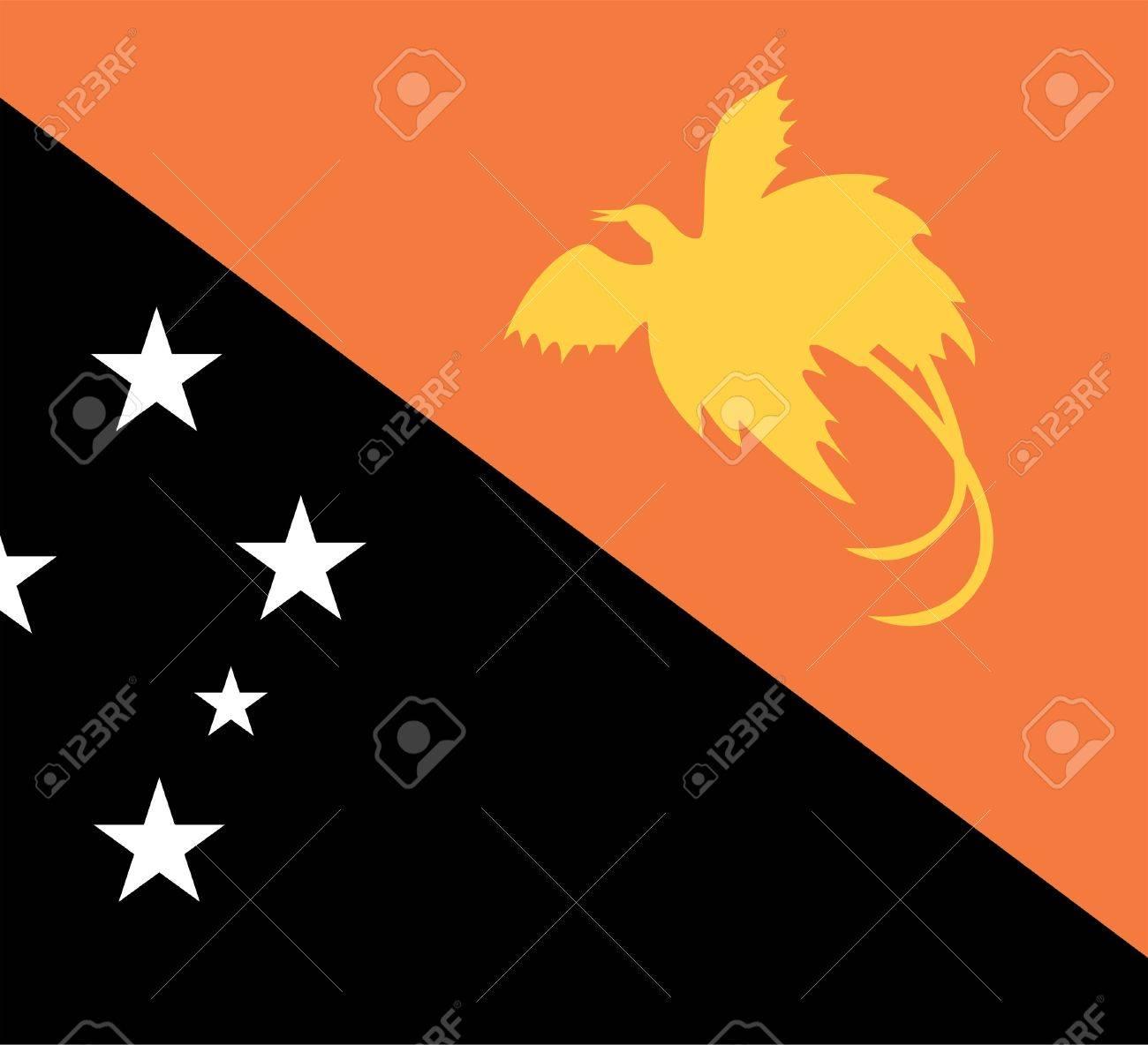 National Flag Of Papua New Guinea Country World Papua New Guinea 1300x1184