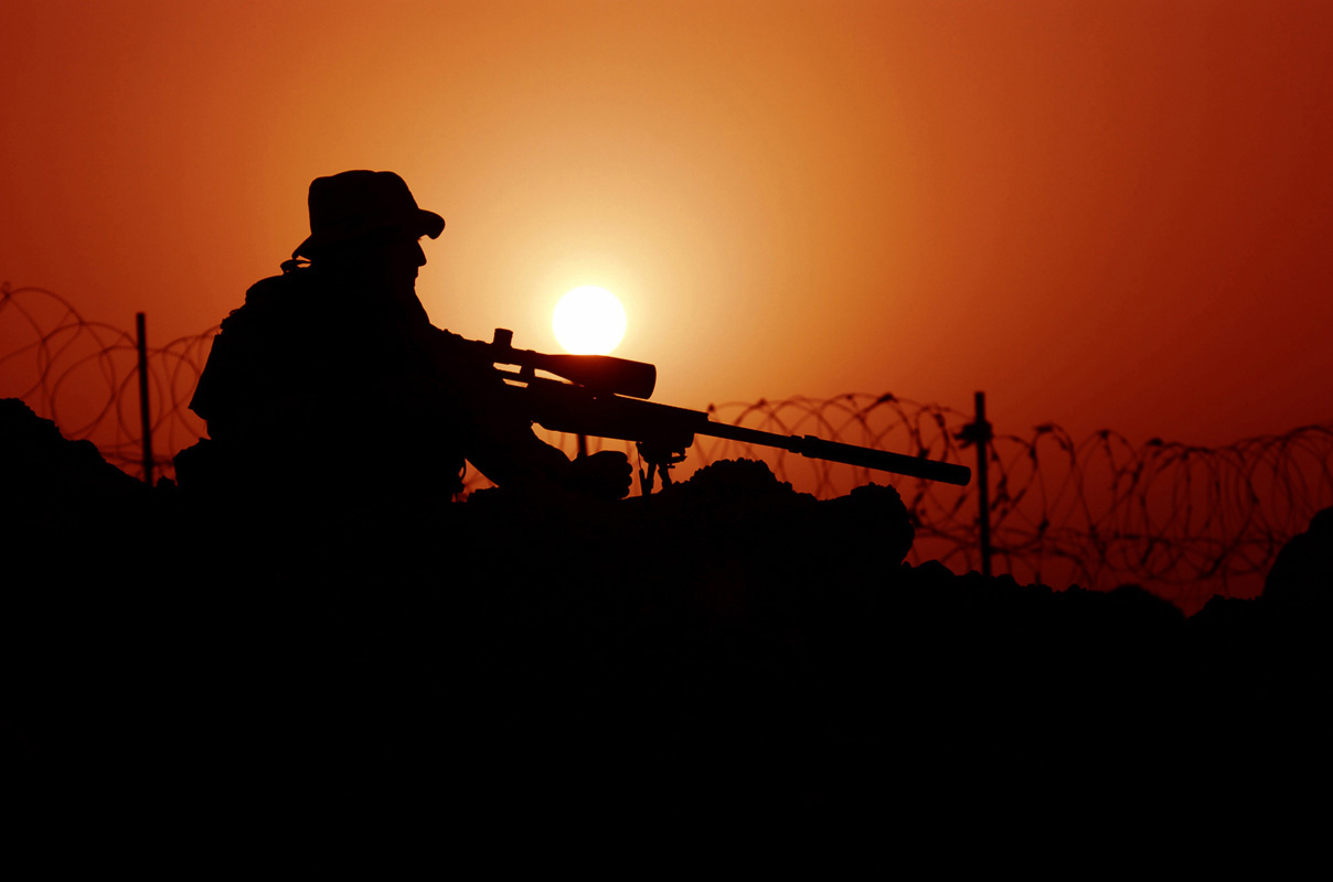 Sniper On Sunset Wallpaper HD Wallpaper WallpaperLepi 1208x800