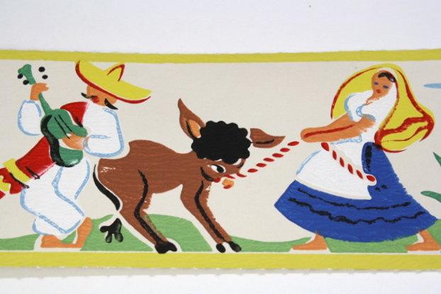 Mexican Wallpaper Border Full vintage wallpaper 622x415