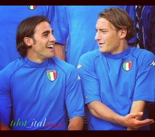 Totti and Cannavaro World Cup 2002 Italy National Football 506x447