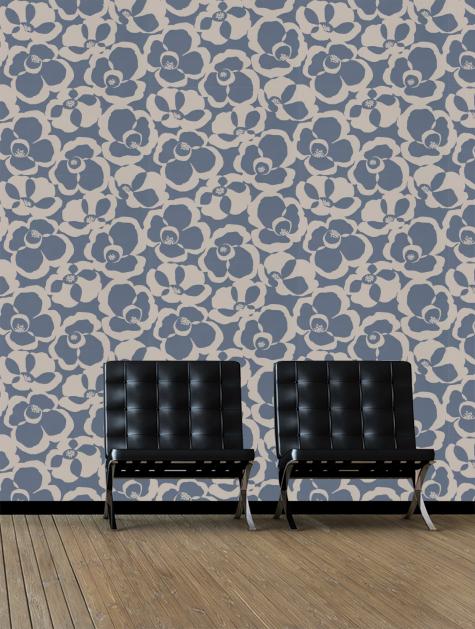 Villa Nova Makela Mono Chambray Wallpaper   W53005 475x629