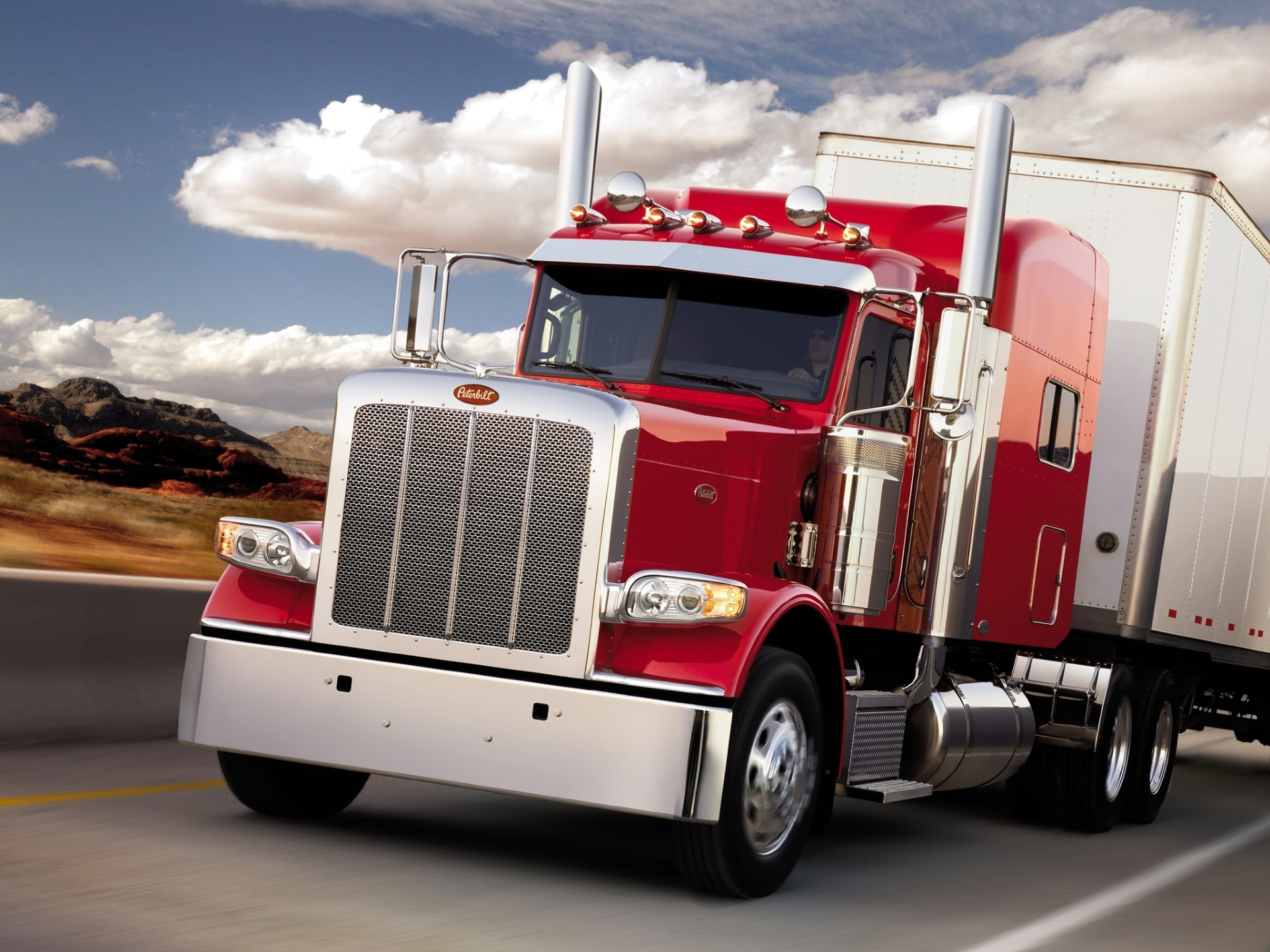 Peterbilt cargo truck wallpapers and images   wallpapers pictures 1920x1440