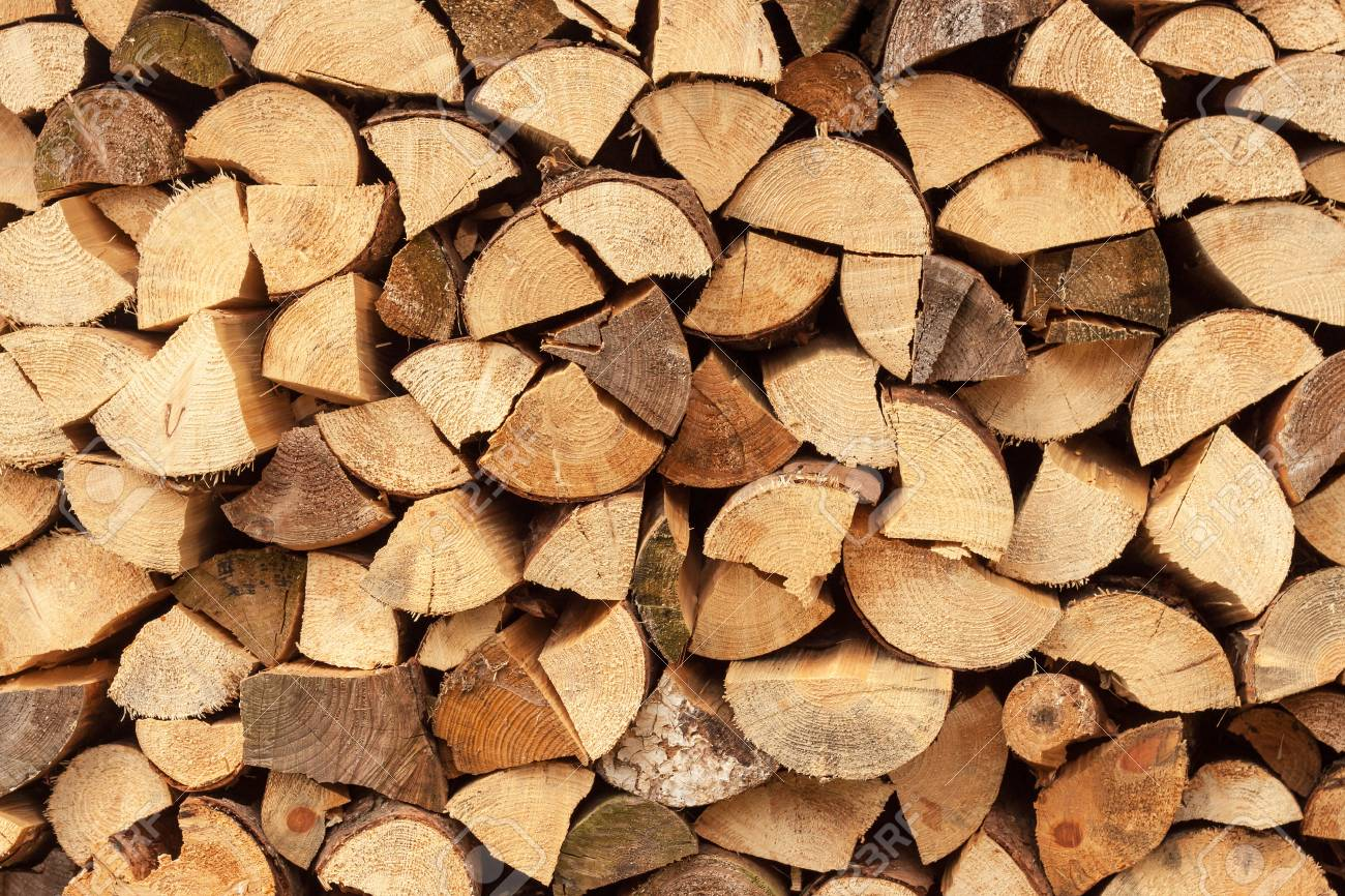 Wall Firewood Background Of Dry Chopped Firewood Logs In A 1300x866