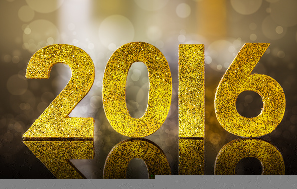 Wallpaper 2016 happy new year golden glitter bokeh 596x380