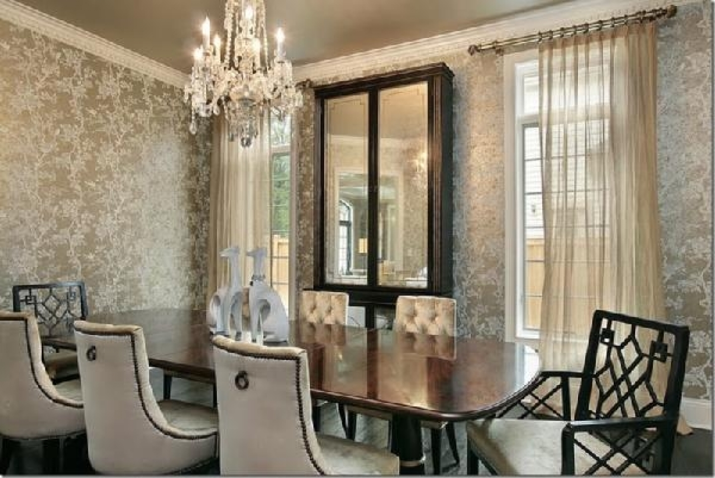 Wallpaper decorating tips luxury dining room 1440x962