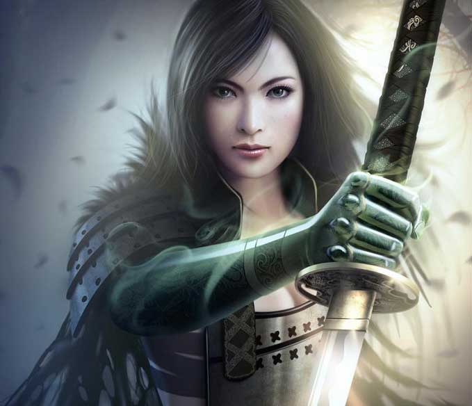 Gorgeous Female Samurai With Sword HD Anime Wallpaper Cute Pretty 679x584