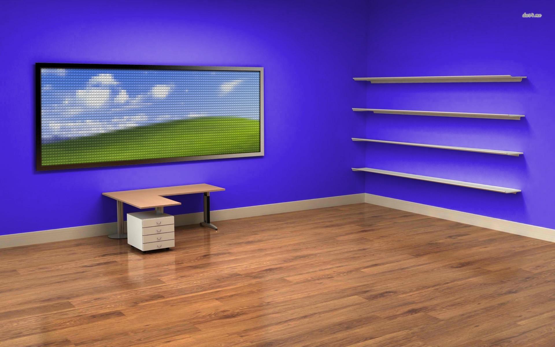 模様替え感覚でアイコンを整理 架空の3d部屋のデスクトップ壁紙