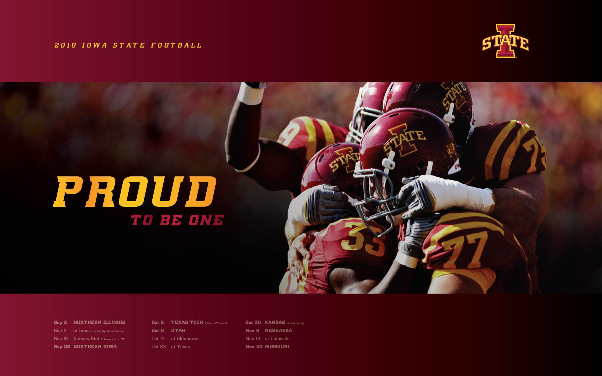 Iowa State Football Poster wallpaper   236096 1920x1200