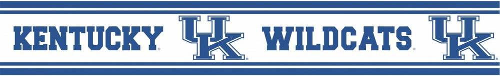 University of Kentucky Wildcats   Wallpaper Border 1000x153