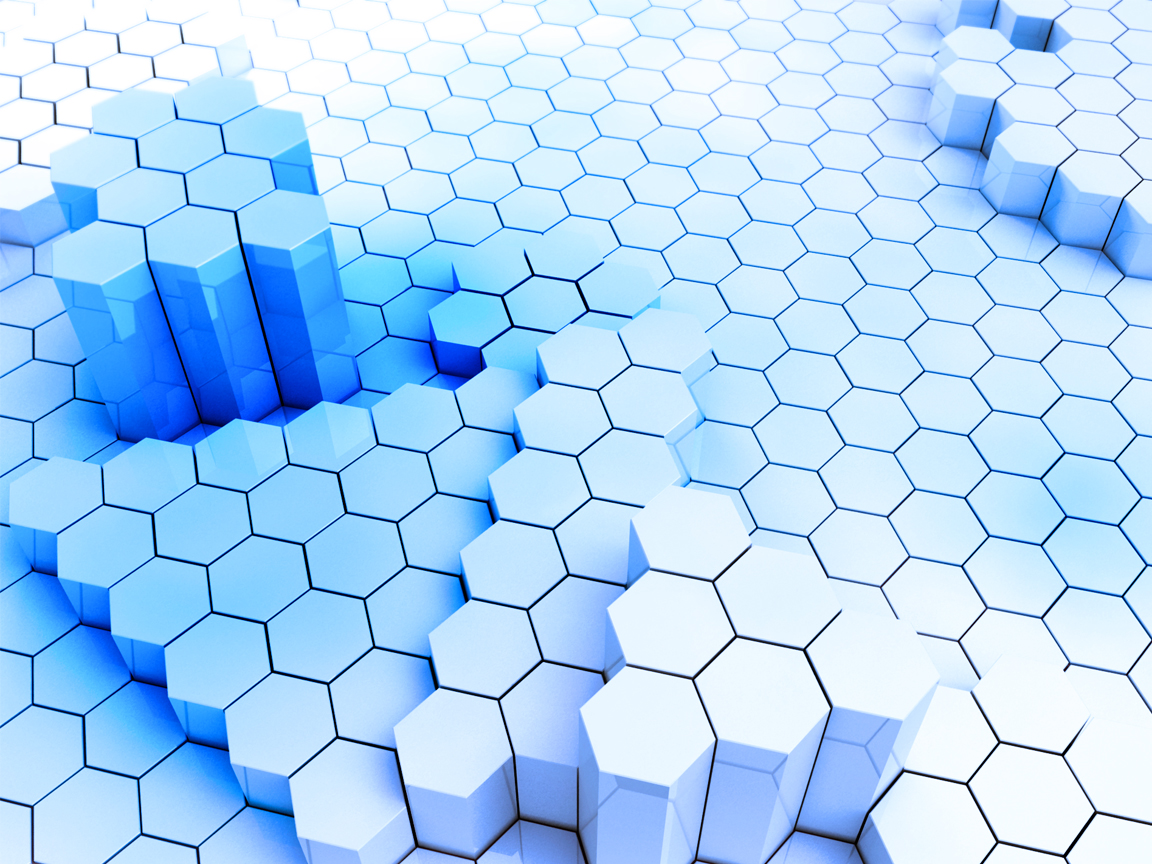 Full HD Wallpapers Abstract Hexagons Blue 1152x864