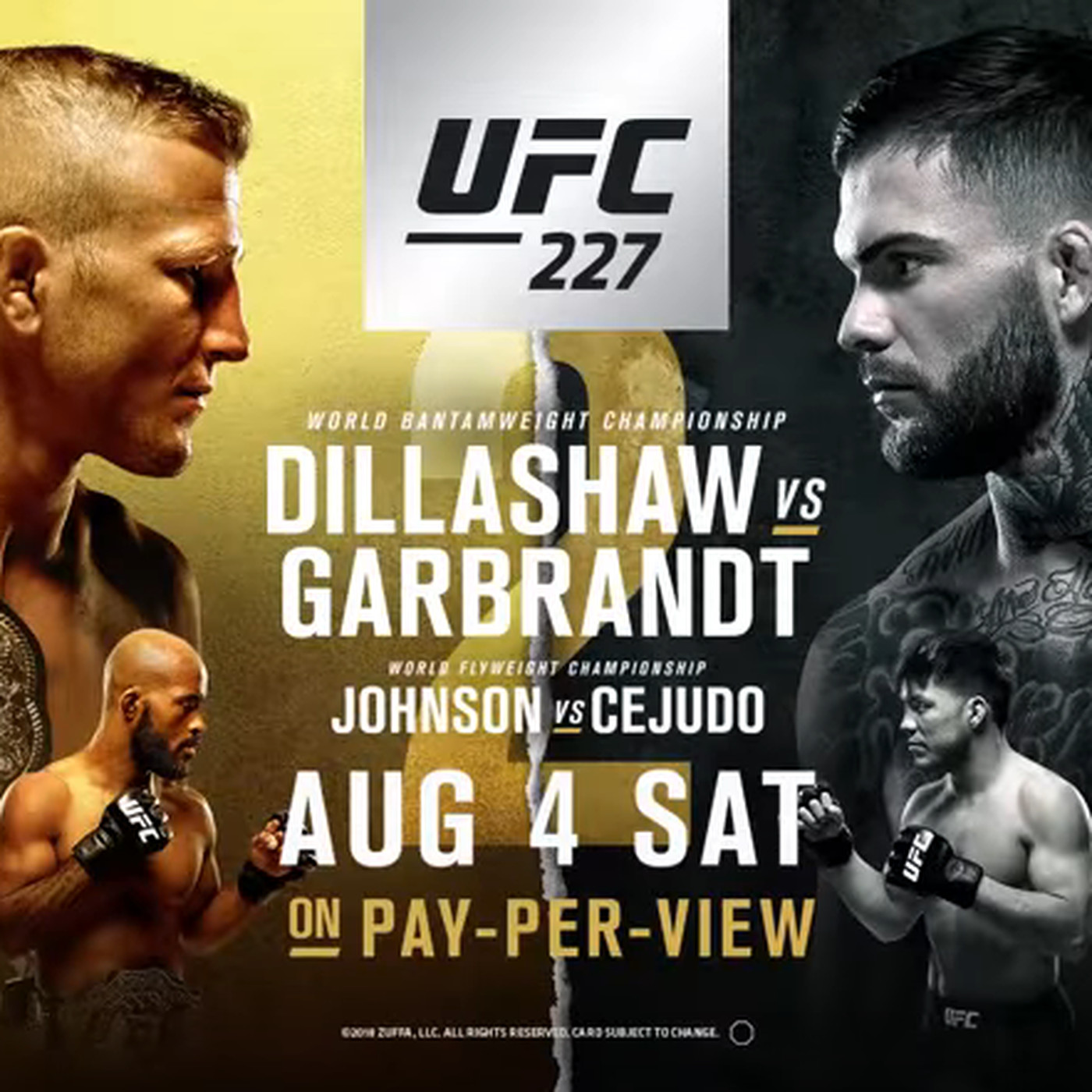 Youre going to be unable to get this latest UFC 227 video trailer 1400x1400