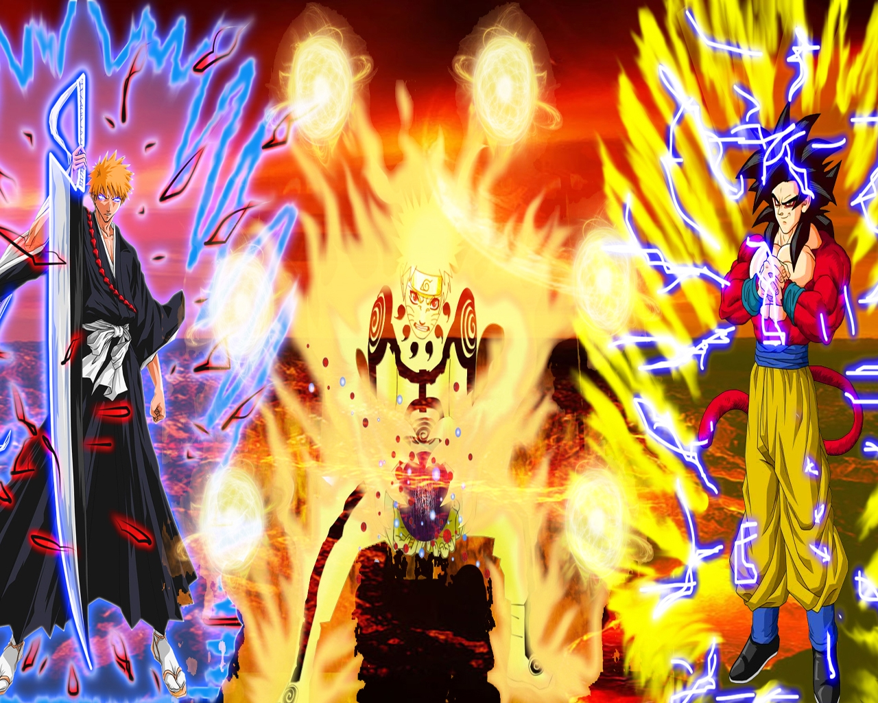 Naruto and Goku Wallpaper 1280x1024