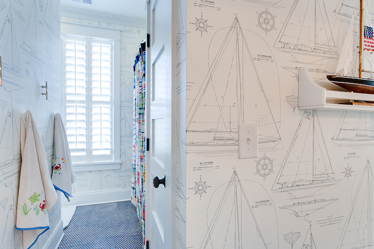 Free Nautical Bathroom