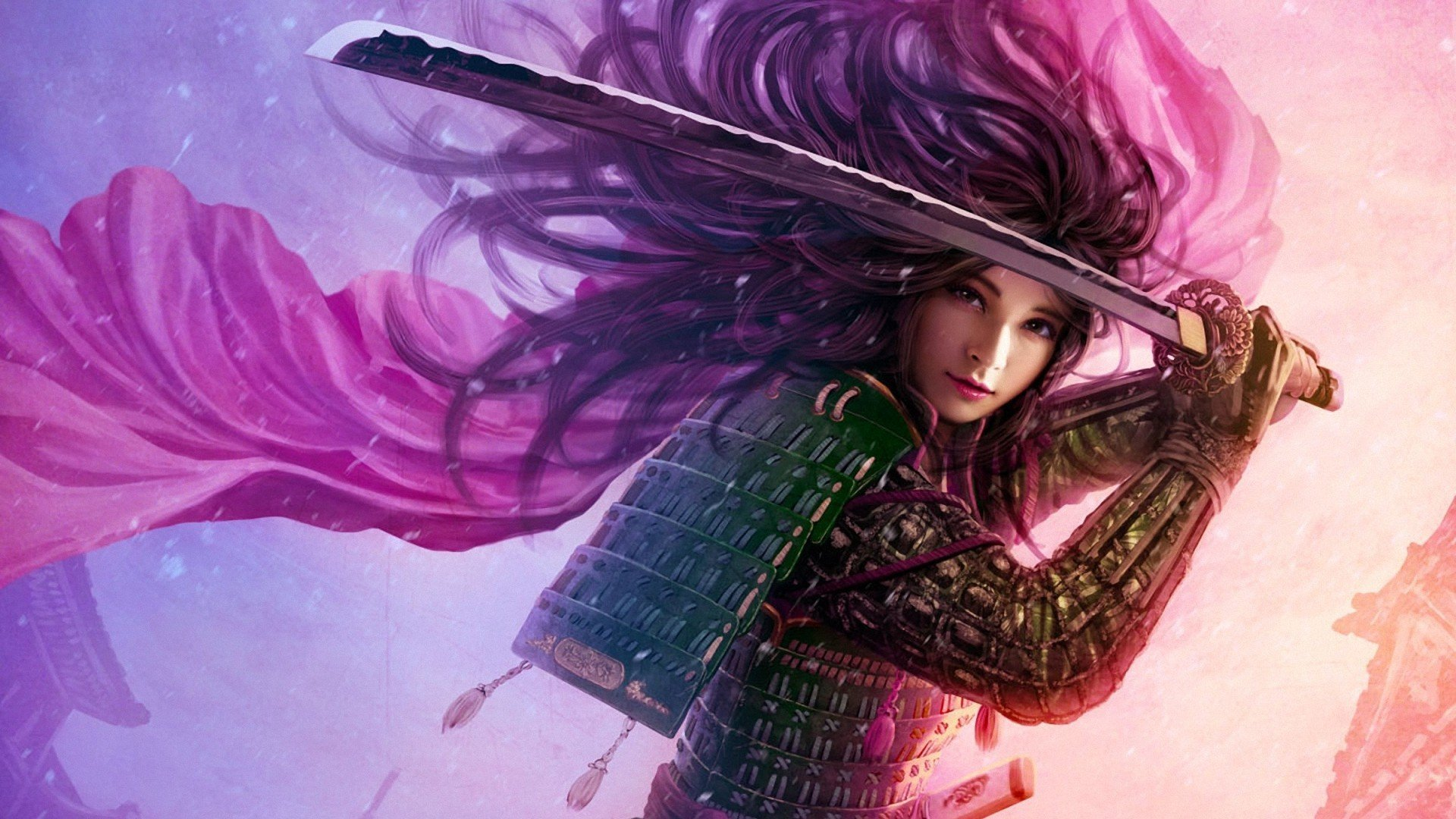 Women abstract samurai wallpaper 1920x1080 252610 WallpaperUP 1920x1080