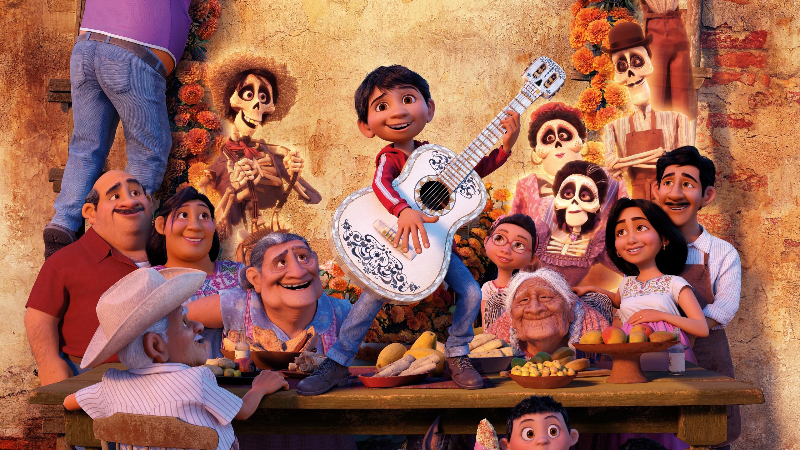 Wallpaper Coco Pixar Animation HD K Movies 2560x1440