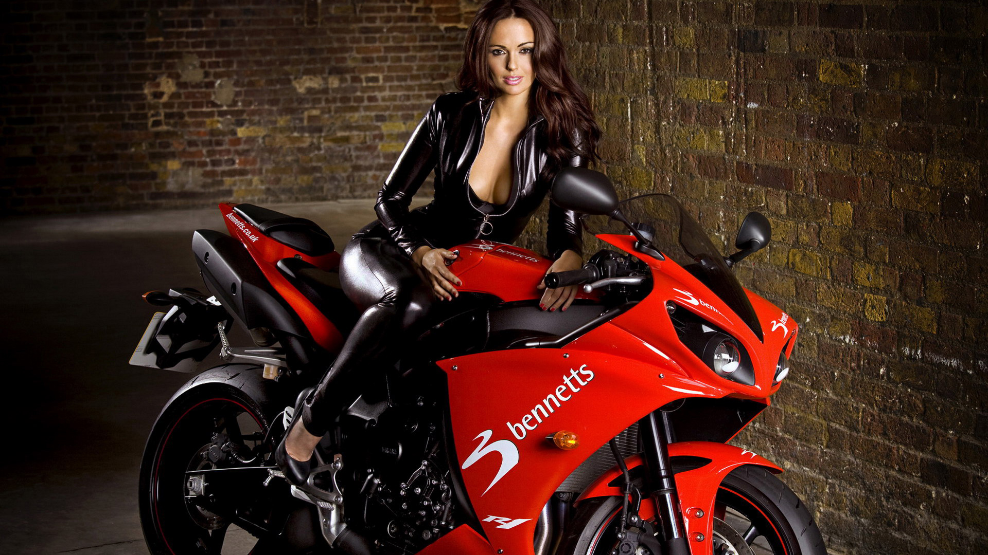 Motorcycles Hot Girl on Bike Wide Screen Wallpaper 1080p2K4K 1920x1080
