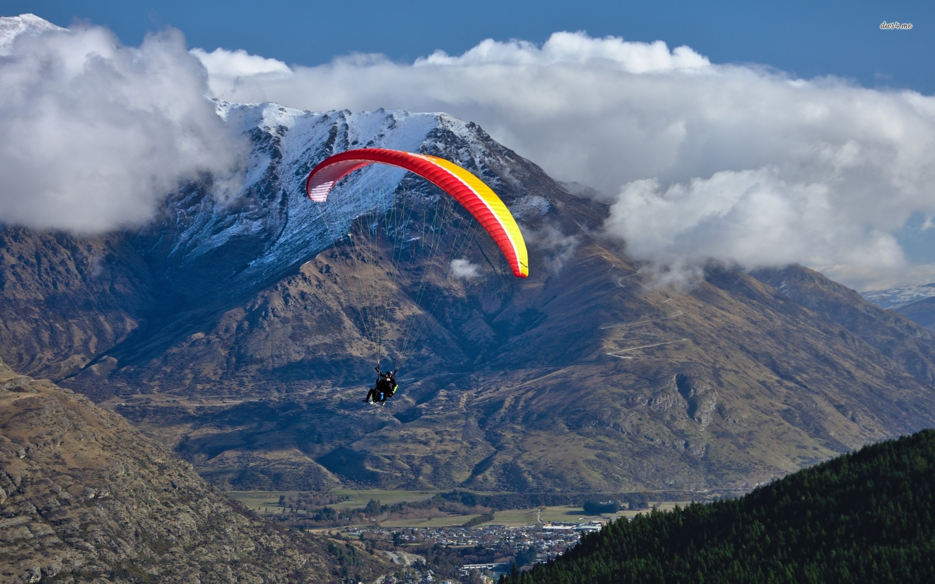 Man paragliding in the mountains wallpaper   Sport wallpapers   50871 1920x1200