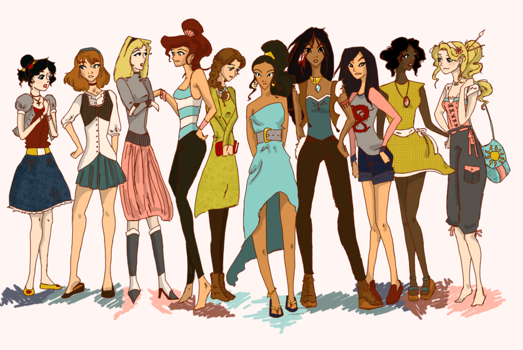 Modern Disney Princesses by Twilight Kairi 1024x685