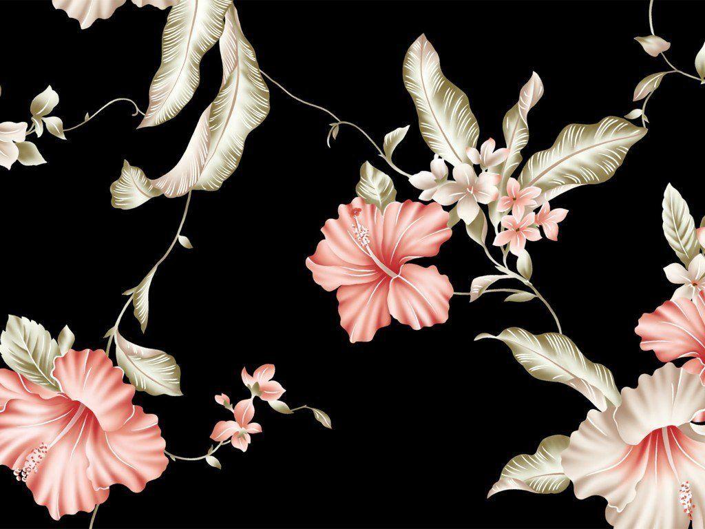 30 Black Vintage Flower Wallpapers   Download at WallpaperBro 1024x768