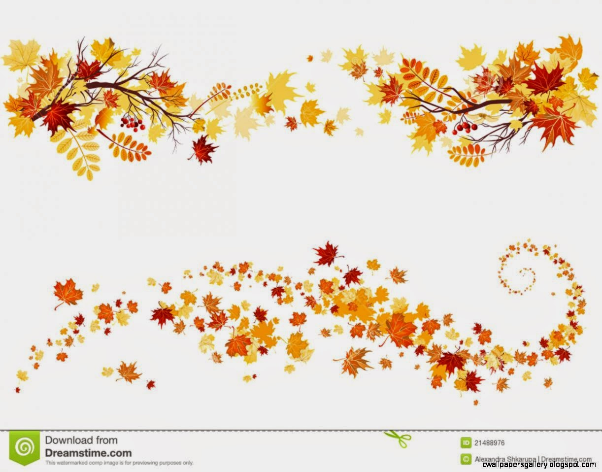Autumn Leaves Border Clipart Wallpapers Gallery 1222x958