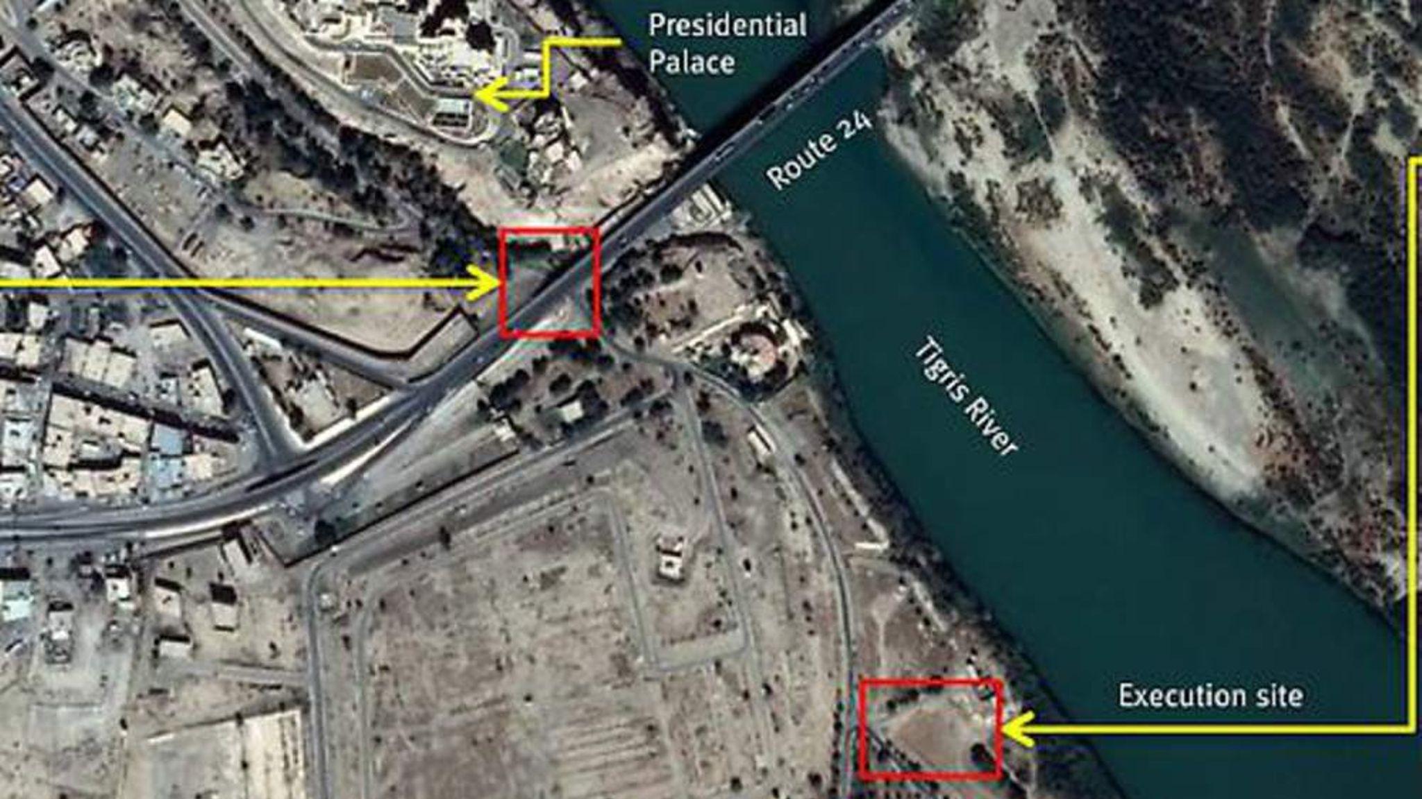 ISIS Massacre Tikrit Satellite Images Emerge World News Sky News 2048x1152