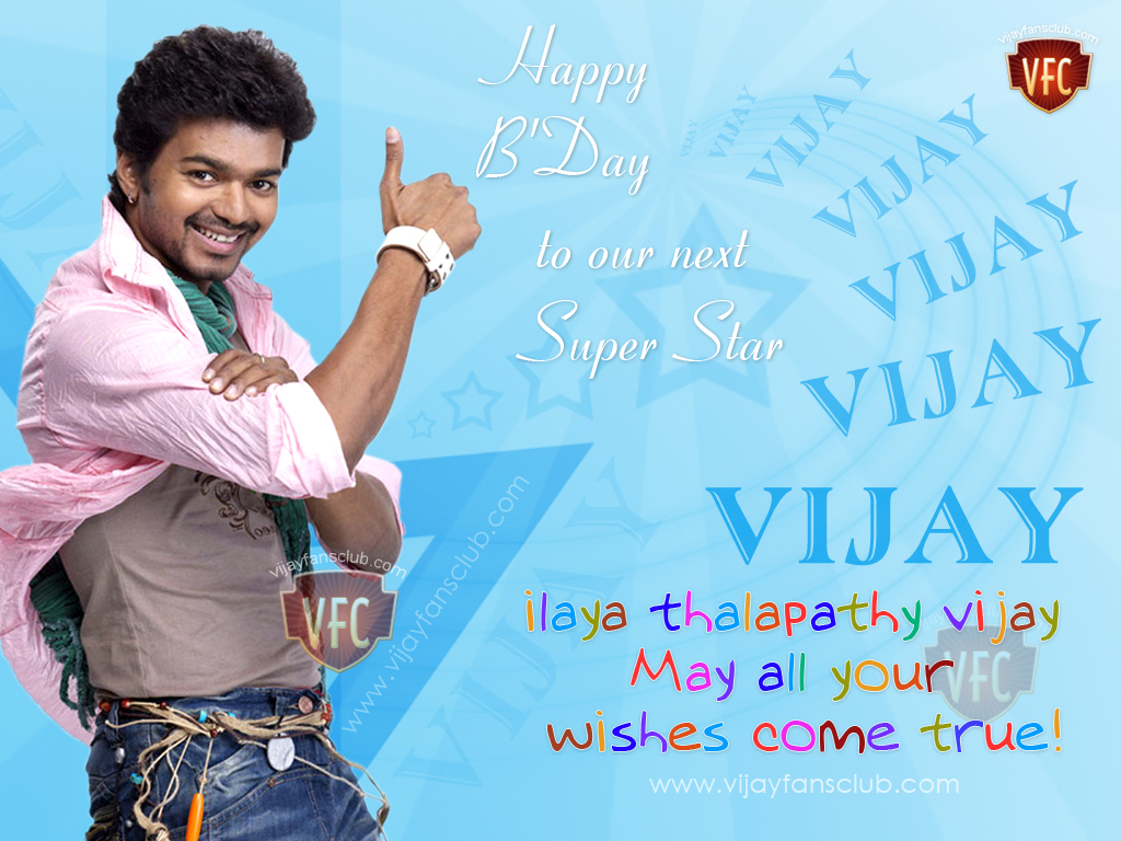 Vijay Birthday Wish Wallpaper Vijayfansclub 1024x768