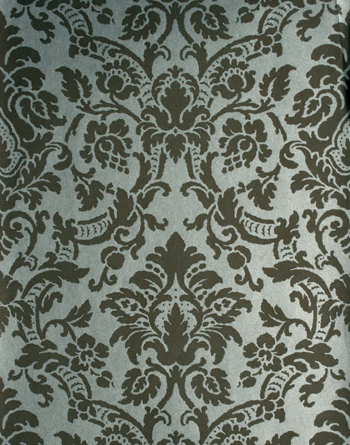 Isis Brown Paisley Damask Wallpaper   Traditional   Wallpaper   by 504x640