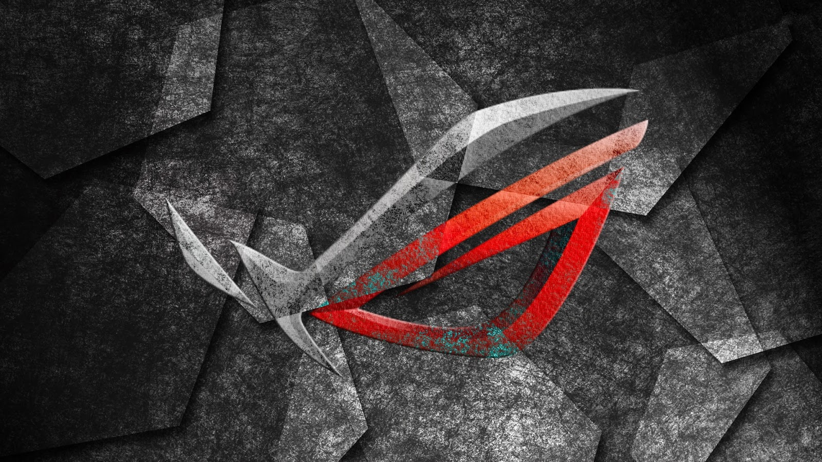 Asus ROG Republic of Gamers Logo Brand Background HD Wallpaper i04 1600x900