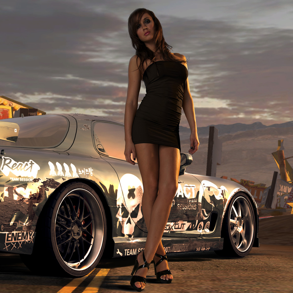 Best iPad Wallpapers with Need For Speed Pro Street Girls Games 1024x1024